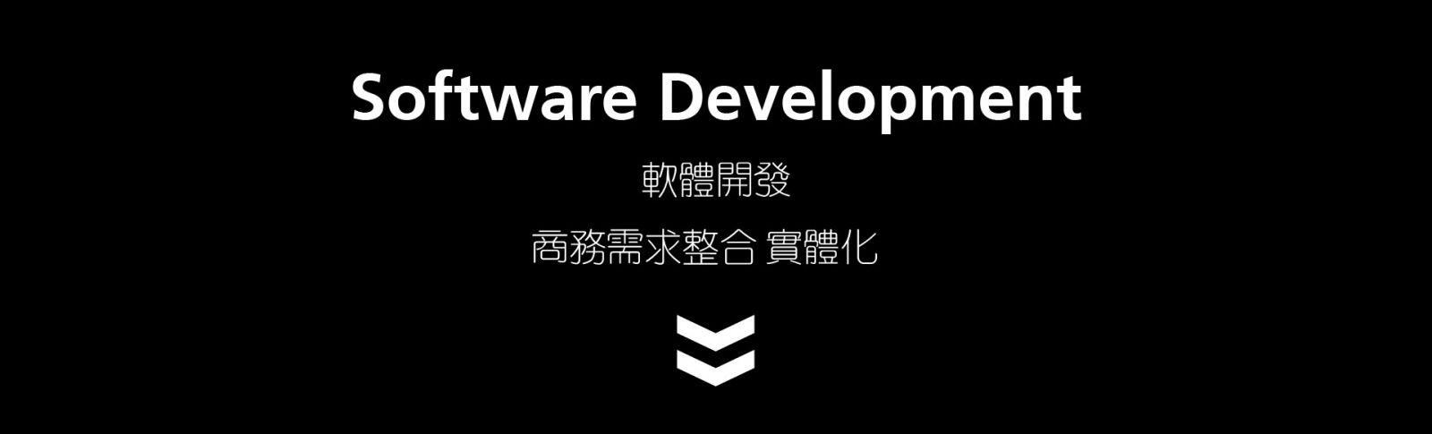 軟體開發Software Development  商務需求整合 實體化 開發規劃 / 需求分析和設計  編程實作 / 軟體測試 / 版本控制 專業的軟體規劃與建置